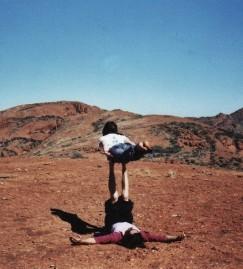 acrobalance with tim brown, mercedes college Step Trek 2007, photo: unknown
