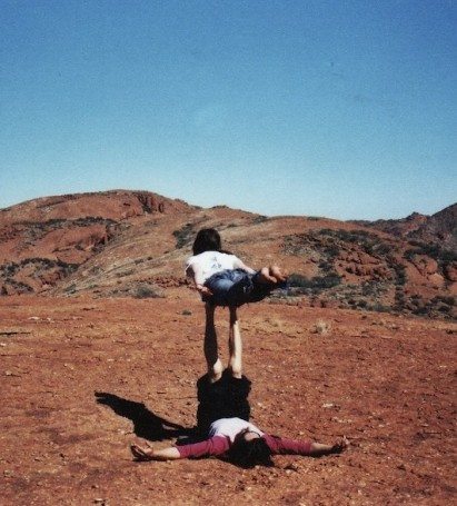 acrobalance with tim brown, mercedes college Step Trek 2007, photo: unknown