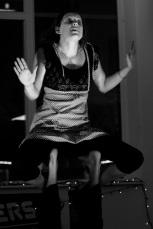indigo eli, acro-poetry, wink wink nudge nudge, the nameless project, 2011, photo: hugh langlands-bell
