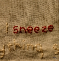 artwork (detail): sneezing 0.1, photo: indigo eli
