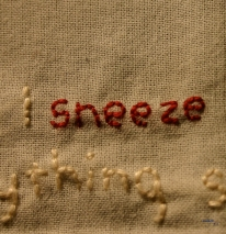 artwork (detail): sneezing 0.1, photo: indigo eli