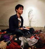 Patch Oliver performing 'curiously omitting' by indigo eli in 'nest' at The Poetry of Object 0.1