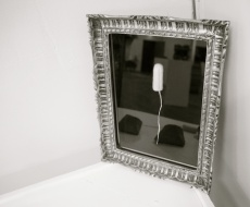luxury, gilt framed cashmere tampon, indigo eli 2016