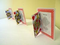 Black Jack, playing card poetry, Subtext exhibition, SA Writers Centre, photo: indigo eli