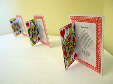 Black Jack, playing card poetry, Subtext exhibition, SA Writers Centre, photo: indigo eli